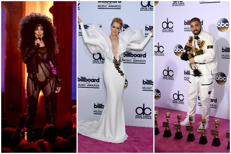Cher, Céline Dion y Drake, lo mejor de los premios Billboard 2017