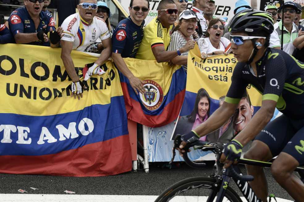 Nairo Quintana fue segundo en la etapa 13 y descuenta en la general del Tour
