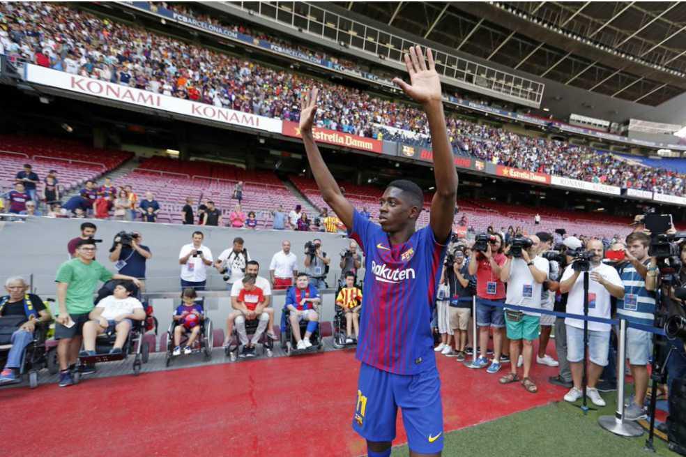 «No estoy aquí para reemplazar a Neymar», Dembélé tras ser presentado por Barcelona