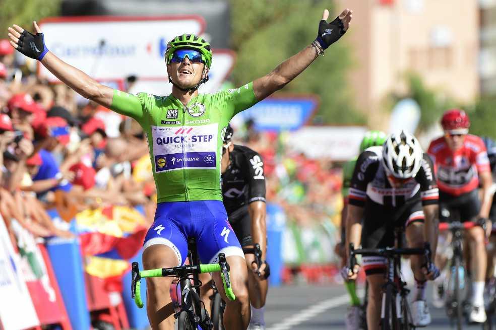 Matteo Trentin logró su tercera victoria en la Vuelta a España