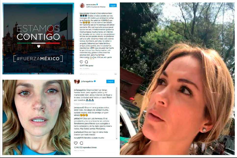 Sara Corrales y Nataly Umaña también vivieron el terremoto de México