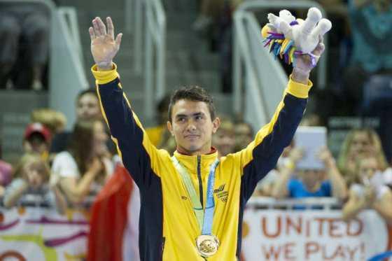 Jossimar Calvo, plata en barra fija en Copa Mundo de gimnasia en Bulgaria