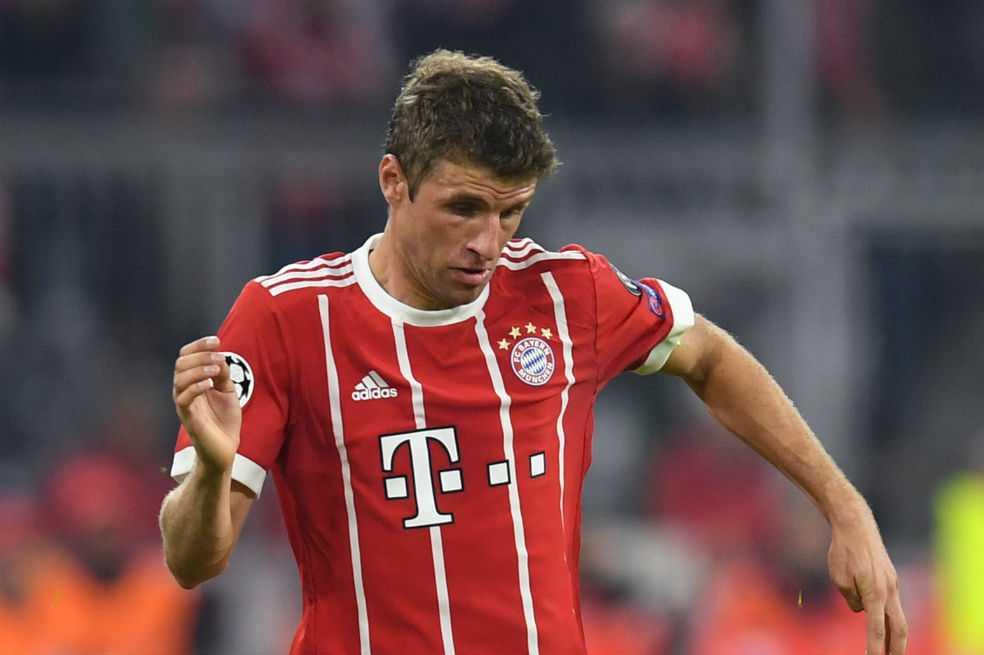 Thomas Müller, baja de tres semanas para el Bayern por lesión muscular