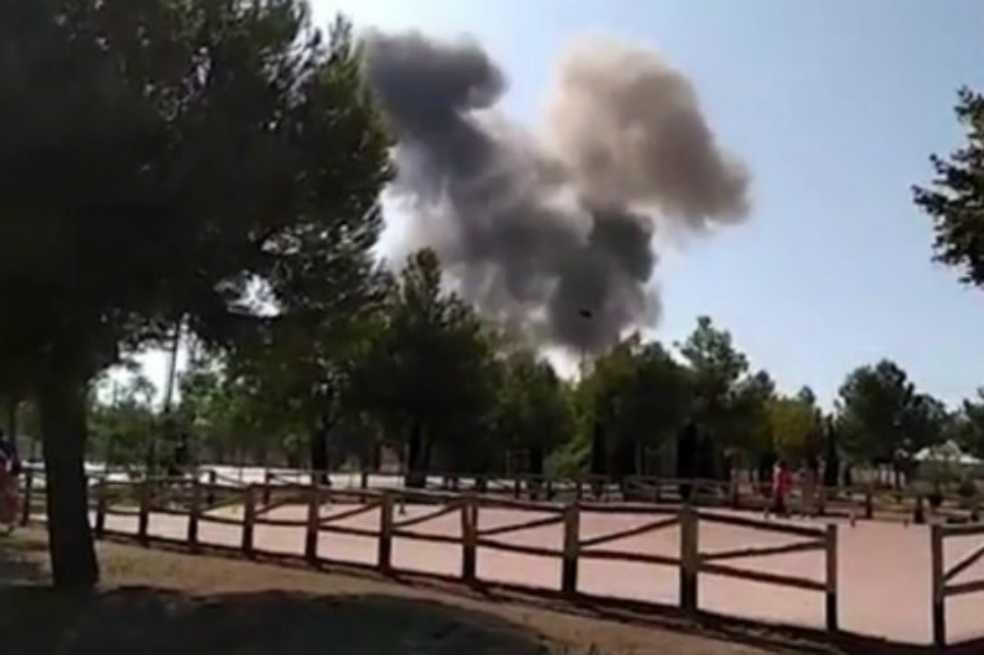 Avión militar español se estrella después de desfile en Madrid