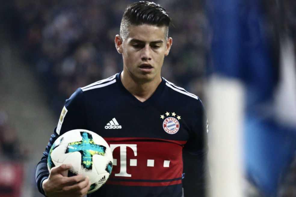 Con James el primer tiempo, el Bayern se impuso frente al Hamburgo