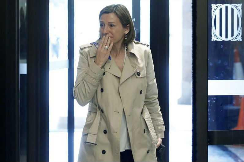 Presidenta del Parlamento catalán salió en libertad bajo fianza