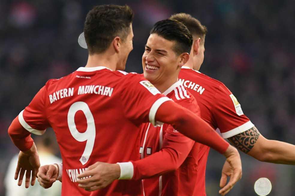 Bayern Munich, con dos asistencias de James Rodríguez, venció 4-2 al Werder Bremen