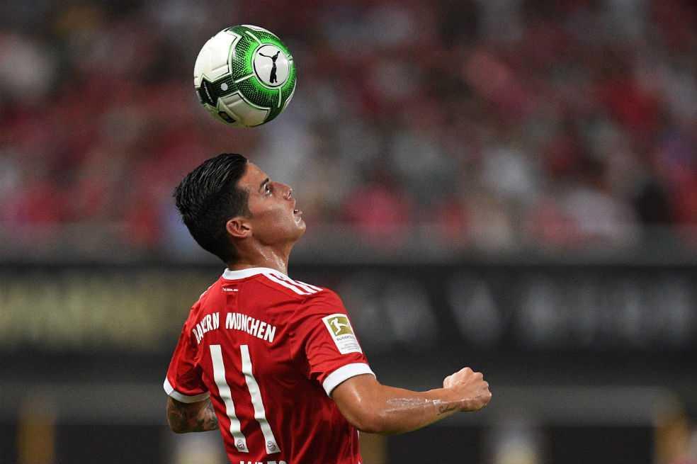 James volvió entrenamientos con el Bayern Múnich