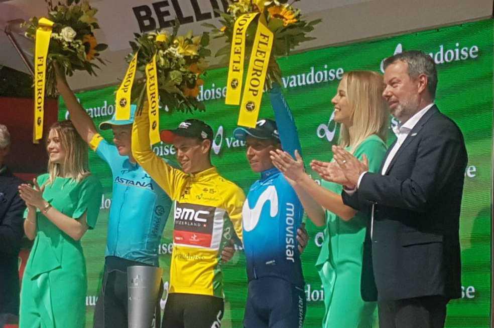 Nairo Quintana quedó tercero de la Vuelta a Suiza