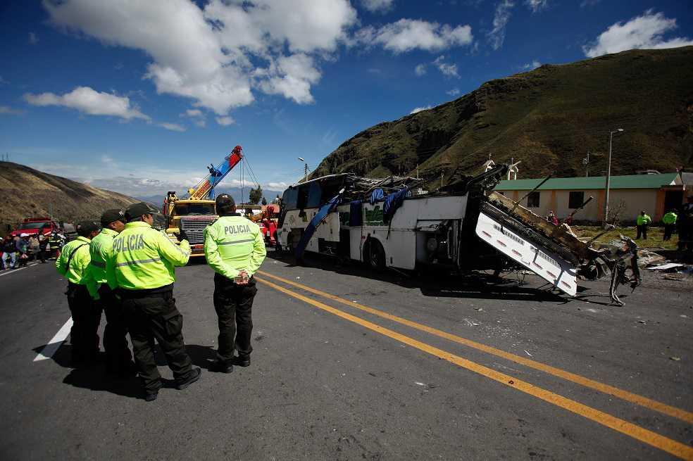¿Qué pasó en el accidente del bus colombiano en Ecuador?