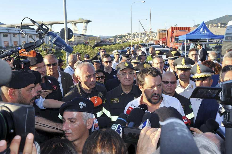 Italia decreta estado de emergencia en Génova tras derrumbe del puente