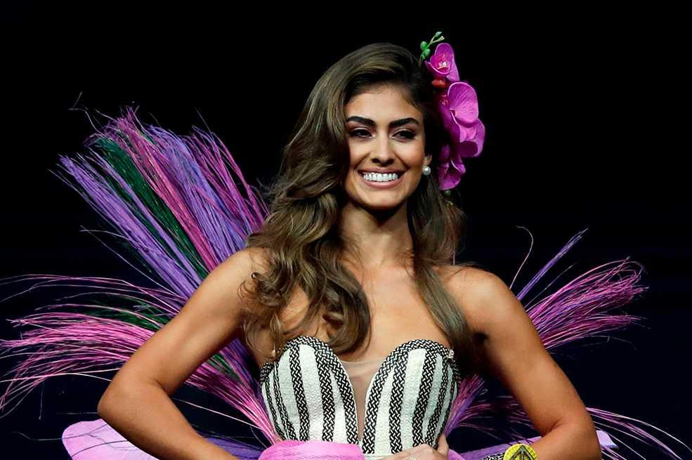 Señorita Colombia lució en Miss Universo traje típico inspirado en orquídeas