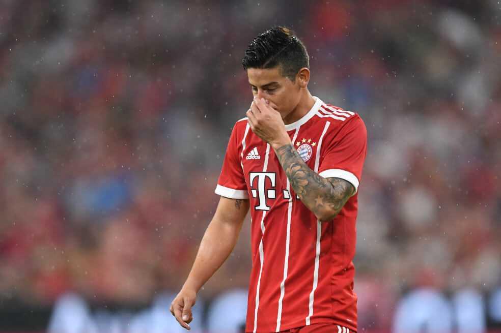 James Rodríguez se lesionó y es duda para el juego del sábado