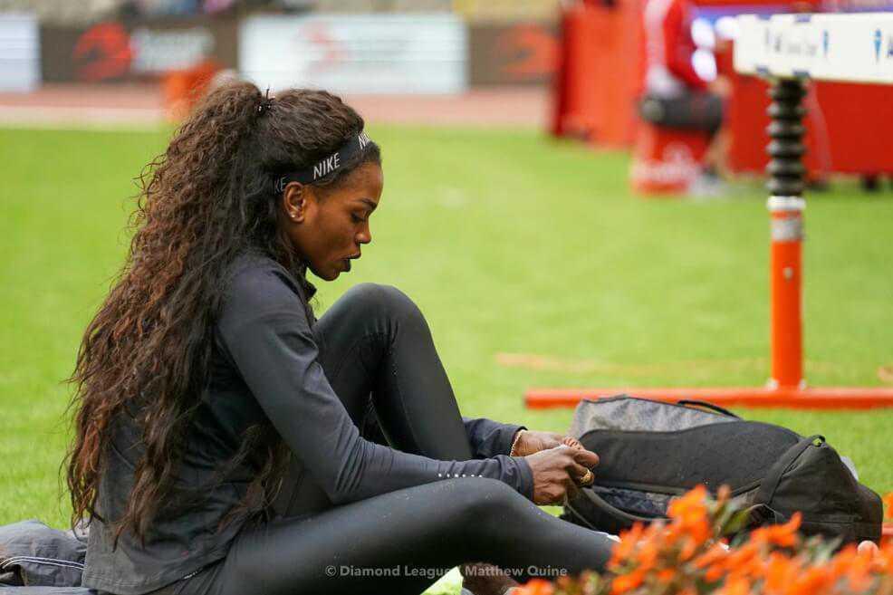 Caterine Ibargüen volvió a competir y tiene la mira puesta en el Mundial de Atletismo