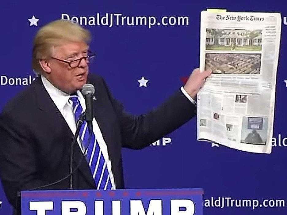 Trump cancela sus suscripciones a The New York Times y The Washington Post