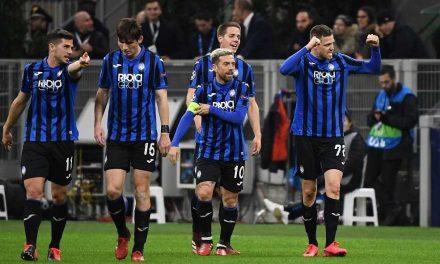 El Atalanta golea para quedar a un paso de los cuartos de final de la Champions