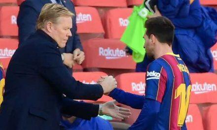 """Koeman: """"Tengo muchísimas esperanzas de que Messi siga en el Barça"""""""