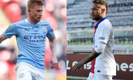 Neymar y De Bruyne marcarán el ritmo en el partido entre City y PSG por Champions