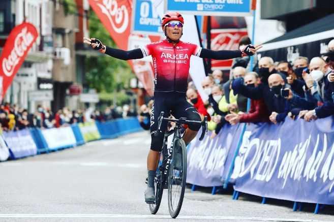 Nairo Quintana y su primer triunfo del año en la etapa inaugural de la Vuelta a Asturias