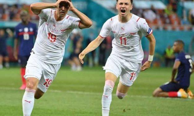 Un partidazo más en la Eurocopa: Suiza eliminó a Francia, el campeón del mundo